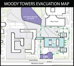 Fire Evacuation Floor Plan Evacuation Plan University Of Houston