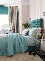 silk tufted headboard light blue bedroom ideas gray platform bed
