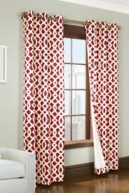 Double Rideaux New York by Double Width Trellis Insulated Grommet Curtains Thermal Drapes