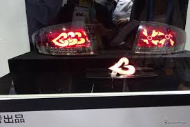 custom car tail lights pioneer demos flexible organic electroluminescent tail lights