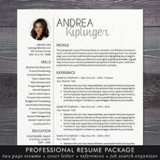 Professional It Resume Template Resume Template With Photo Professional Modern Cv Word Mac