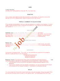 Blank Resumes To Fill In Templates Of Resumes Free Resume Example And Writing Download
