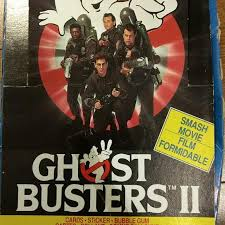 best price drop new carton of ghostbusters 2 trading cards for