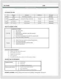 resume format for fresher resume cv sle format human resources hr fresher mba skool