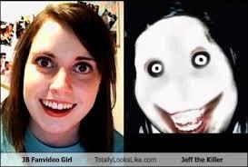 jb fanvideo girl totally looks like jeff the killer totally looks like