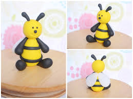 bumble bee cake topper polymer clay bee cake topper sculpture by thelinnypig on deviantart