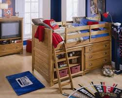 bedroom wonderful austin low loft bed with dresser and bookcase