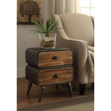rustic pine end table urban loft rustic natural pine 2 rounded drawer chest 162018 the