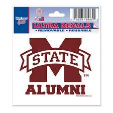 ole miss alumni sticker state bulldogs alumni 3x4 ultra decal