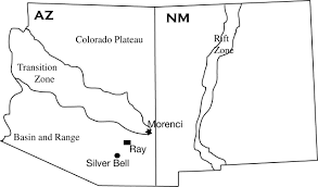 Southwestern United States Map by Patterns In The Copper Isotope Composition Of Minerals In Porphyry