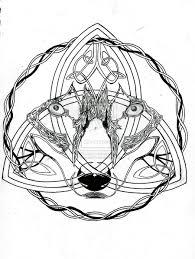 celtic wolf by phoenixgr on deviantart