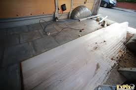 Removing Old Laminate Flooring Expix Van Conversion Refit Has Started