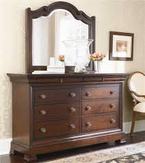 Louis Philippe Dining Room Bassett Louis Philippe 8 Drawer Dresser Carved Mirror Combo