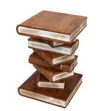 stacked books ornamental table large