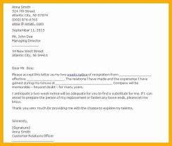 doc 695463 two week notice letter example u2013 40 two weeks notice