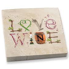 wine letters beverage napkins everythingbutwine