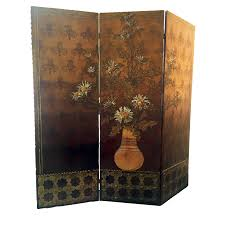 folding screen room divider c19th antique leather mould screen traditional folding screens