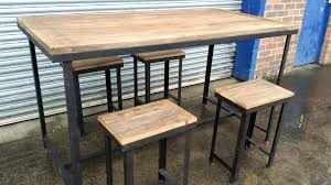 long counter height table counter height table and stools rustic counter height table set
