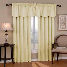 eclipse canova blackout ivory polyester curtain valance 21 in