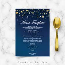 wedding menu cards template wedding menu cards printable templates in the attic