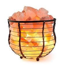 himalayan salt l basket himalion natural air purifying himalayan salt metal basket bowl l