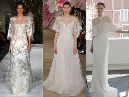 the shoulder wedding dresses top wedding dress trends from 2017 bridal fashion week