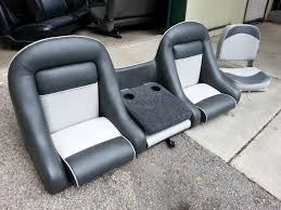 homestyle custom upholstery and awning before and after boat seat