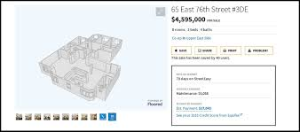 Easy Floor Plans by Streeteasy Adding 3 D Floor Plans To Some Listings