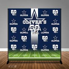 Dallas Cowboys Flags And Banners Dallas Cowboys Football 40th 50th 60th Birthday 8x8 Backdrop