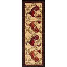 Rooster Runner Rug Ottomanson Siesta Collection Kitchen Rooster Design