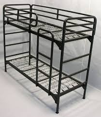 Metal Bunk Bed Frame Military Bunk Beds The Same In Yellow Fluo Or In Sky Blue Home