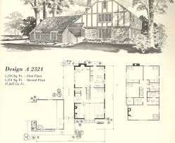 Tudor Mansion Floor Plans by Vintage House Plans 1970s Homes Tudor Style Architecture