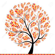 beautiful autumn tree for your design royalty free cliparts