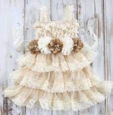 Chic Flower Rustic Burlap Flower Dress Country Chic Dress Burlap Flower