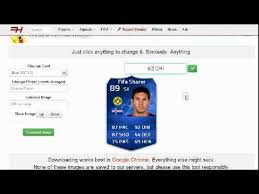 create your own card how to create your own fut 14 card