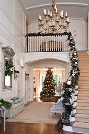 pictures of christmas decorations in homes festive holiday staircases and entryways traditional home