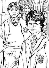 best friend of harry potter coloring pages color online free