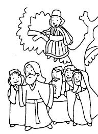 Zacchaeus Coloring Page Printable Para Best Images On Book Bible Zacchaeus Coloring Page