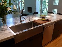 Stainless Steel Bench With Sink Marvelous Stainless Steel Farmhouse Sinkin Kitchen Contemporary