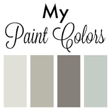 paint colors in my home setting for four