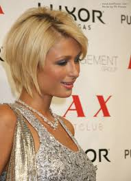 parisian bob hairstyle paris hilton s highly textured oval bob haircut