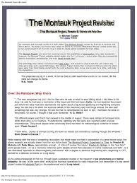 the montauk project revisited transmitter detector radio