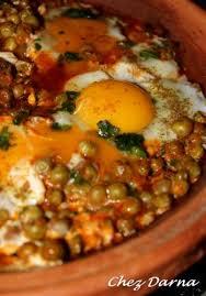 cuisiner des petit pois surgel tajine aux petits pois et aux oeufs darna