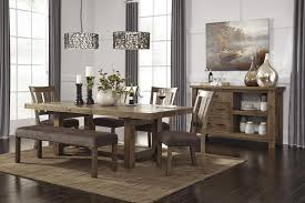 Rustic Dining Room Table And Chairs by Rectangle Dining Room Table With Leaf By Signature Design By