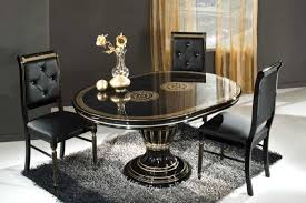 dining room black dining set with marble top table elegant black