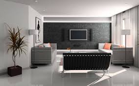 interior design living room at simple minimalist contemporary
