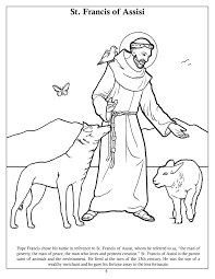 st francis of assisi coloring page saint francis of assisi