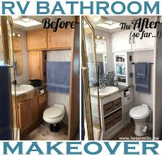 rv bathroom remodeling ideas what happened rv renovation the bathroom edition rv