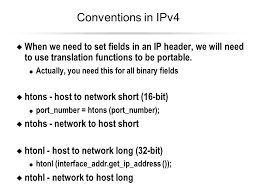 map of the htons the rapid survey of ip udp tcp ppt