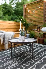Palm Tree Outdoor Rug An Outdoor Revamp With At Home The Final Look Fresh Exchange